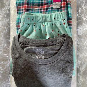 Juniors 3-Piece Tee, Pants and Shorts Pajama Set